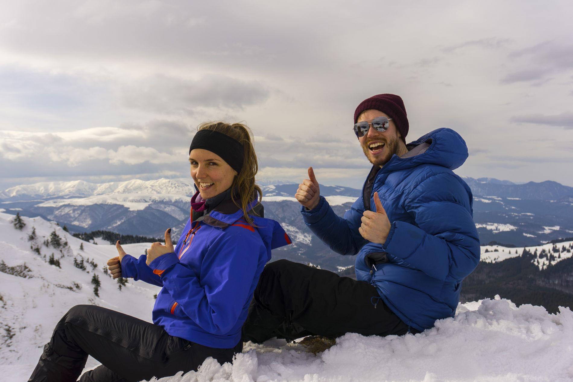 Winter hiking in Ciucas Mountains