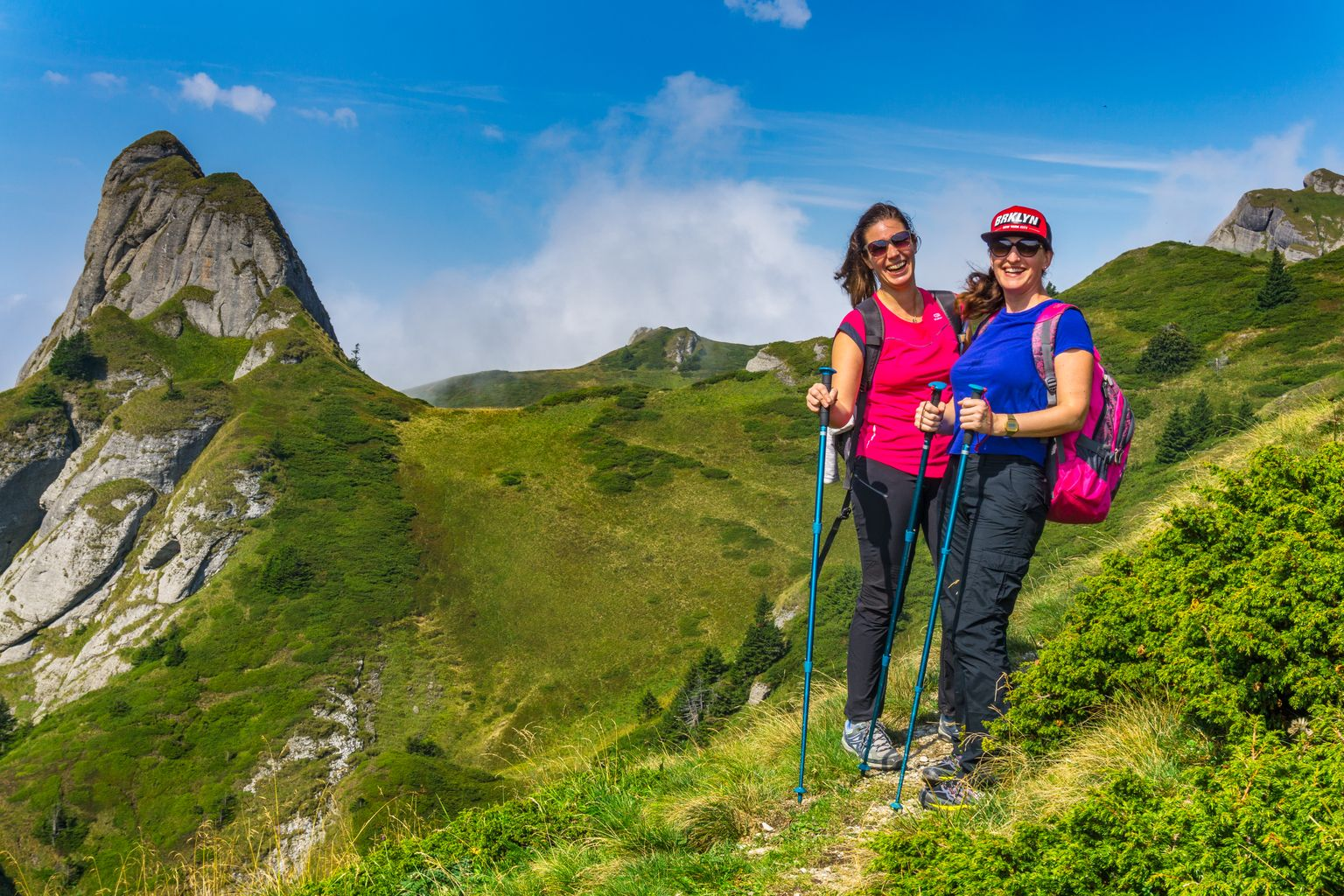 Hiking in the Carpathians in Romania